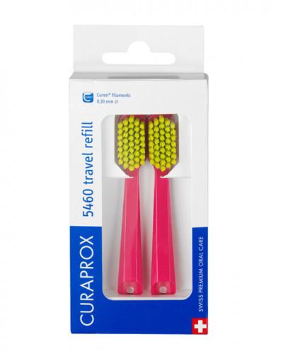Travel set spare brush head for CS 5460, red, 2 pcs.